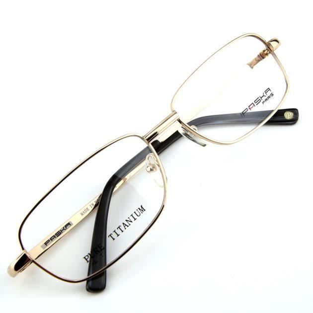 137e34043f961b Monture de lunettes de vue Titanium cerclée Doré - Achat   Vente ...