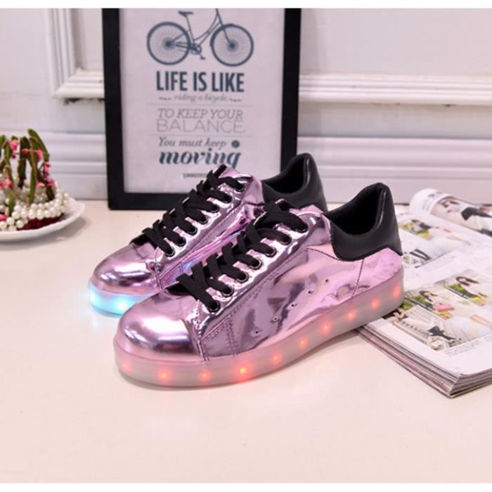 Chaussure Sneakers LED Homme Femme USBLumière...
