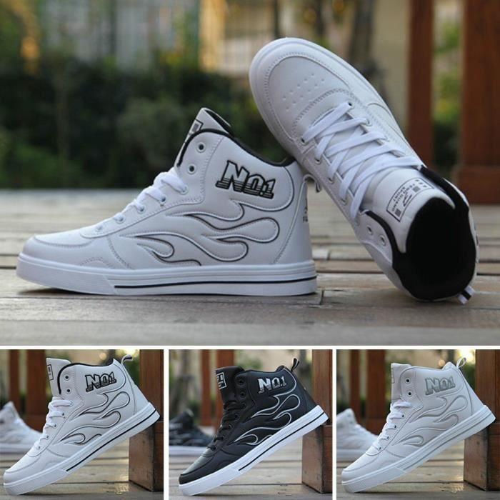 Hommes Chaussures Casual Mode Automne Bottines Haut Haut Hommes En Cuir Sneakers