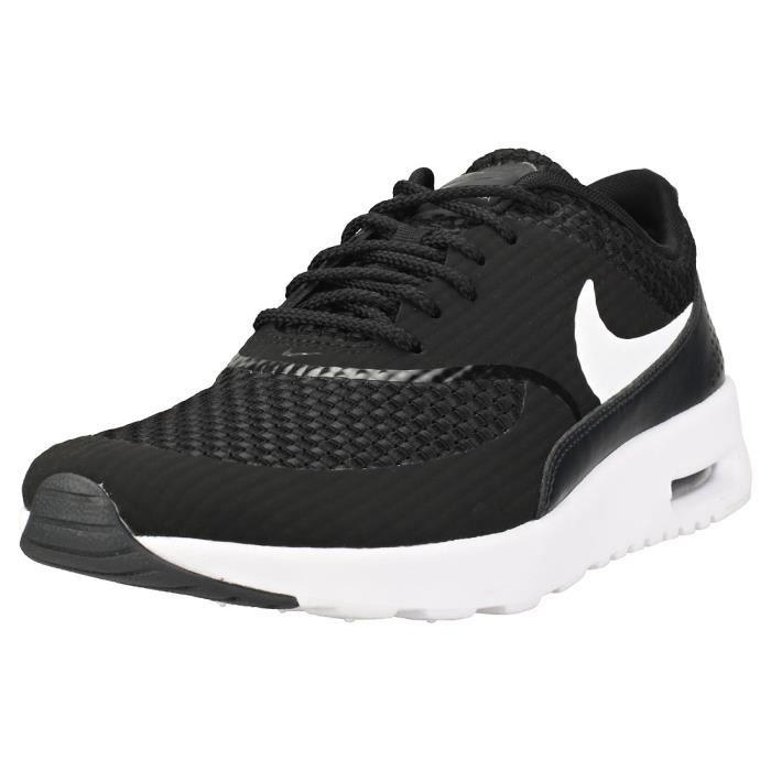 d9eb7f0fd7ac2 Nike Air Max Thea Premium Femme Baskets Noir Blanc Noir Noir blanc ...