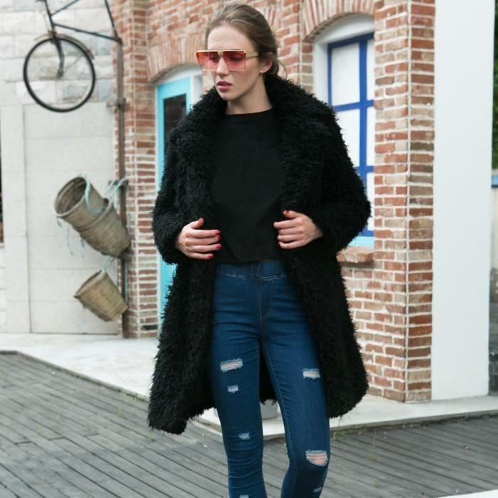 Long Noir Surdimensionné En Chaud Hiver Veste Femmes Parka Outwear Manteau Vrac cqppwR8ACx