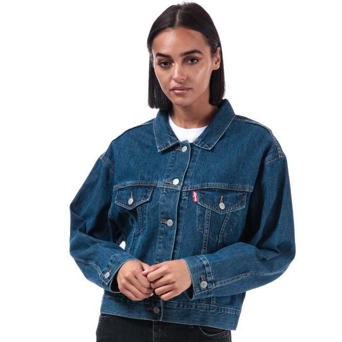 Veste en jean levis trucker femme