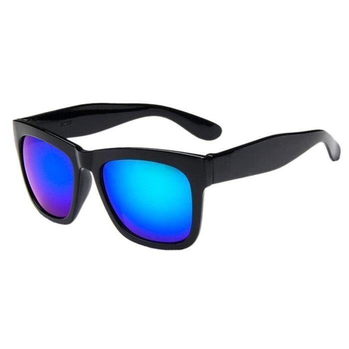 Unisexe lunettes de soleil de sport en plein air avec cadre carre noir + vert