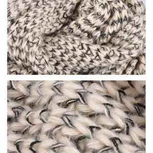 ... ECHARPE - FOULARD Femme écharpe hiver Long Mohair laine douce chaude ... 7f560f4cc3a