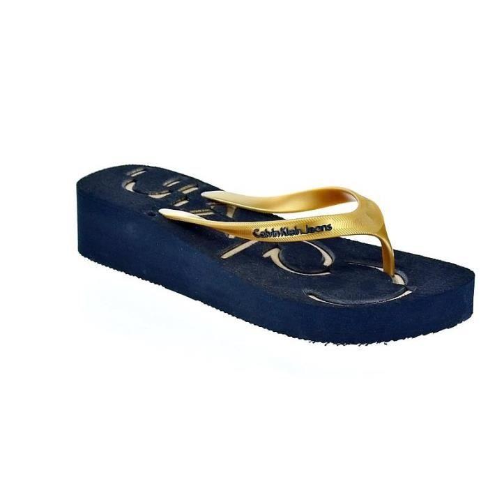 Chaussures Calvin Klein Femme Sandales modèle Ginevra Metallic