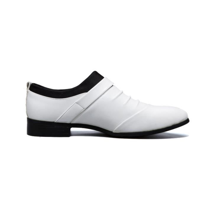 Slip Casual sur Oxford Robe Toe Shoes Pointu DOA72 Taille-39
