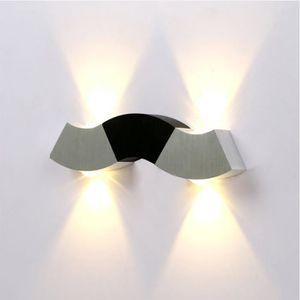 APPLIQUE EXTÉRIEURE 4W LEDs Lampe Up and Down Design  en Aluminium pou