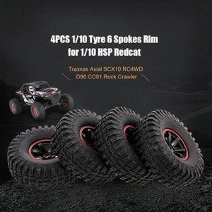 PNEUS AUTO 4pcs Pneus pneus Set roue pour 1 - 10e échelle RC