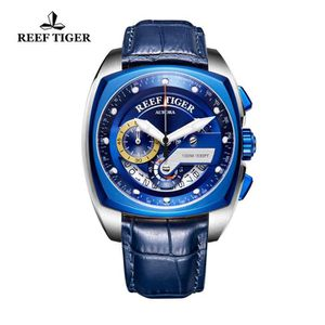 MONTRE Reef Tiger Montres de luxe pour hommes en acier Br