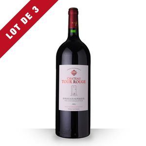 VIN ROUGE 3X Château Tour Rouge 2013 Rouge 150cl magnum  AOC