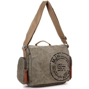 0e2df447732 Toile Epaule Sac Messager Voyage Style retro Hommes(Army Green) Army ...