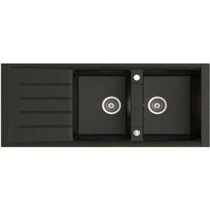 evier 2 bacs noir achat vente evier 2 bacs noir pas cher soldes d s le 10 janvier cdiscount. Black Bedroom Furniture Sets. Home Design Ideas