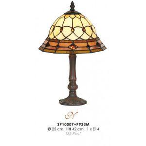 LAMPE A POSER Tabouret lampe Tiffany diamètre 25cm, hauteur 42cm