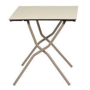 TABLE À MANGER SEULE Table carrée pliante 68x64cm en acier pour 2 à 4 p