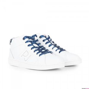 BASKET Baskets montantes blanches femme Lane Boot Pepe Je