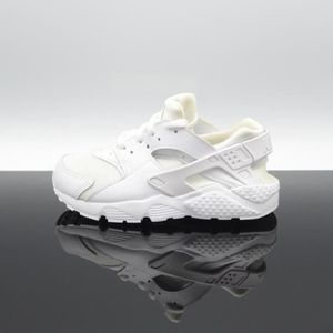 BASKET NIKE Huarache Run Blanc Enfant 704949-110