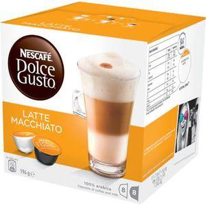 CAFÉ - CHICORÉE Nescafé Dolce Gusto Latte Macchiato, 194 g, Capsul
