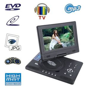 LECTEUR DVD PORTABLE FJD-998 lecteur dvd divx numérique portable 9 pouc