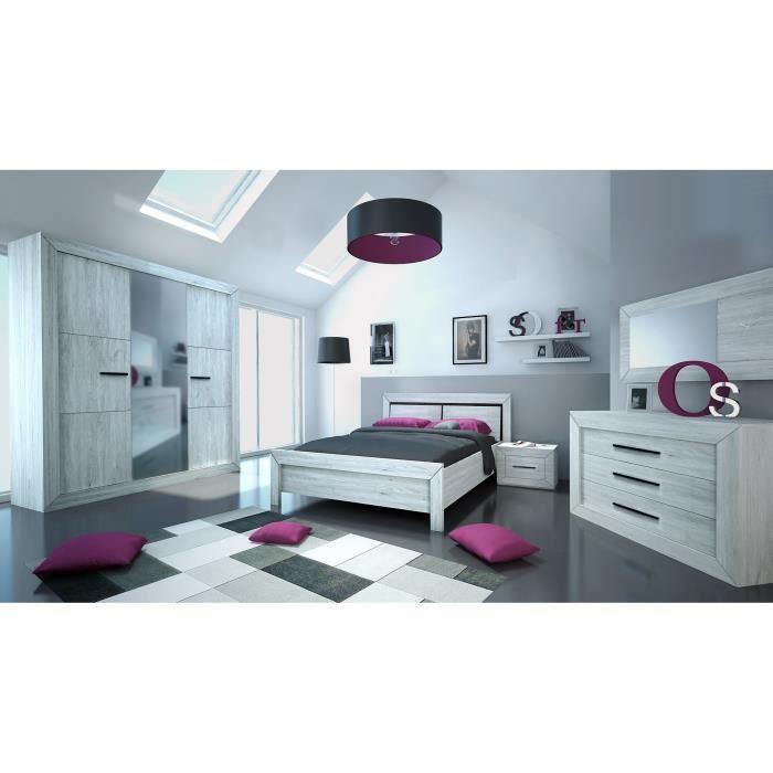 Neva Miroir De Chambre Contemporain Décor Gris Clair - L 130 Cm