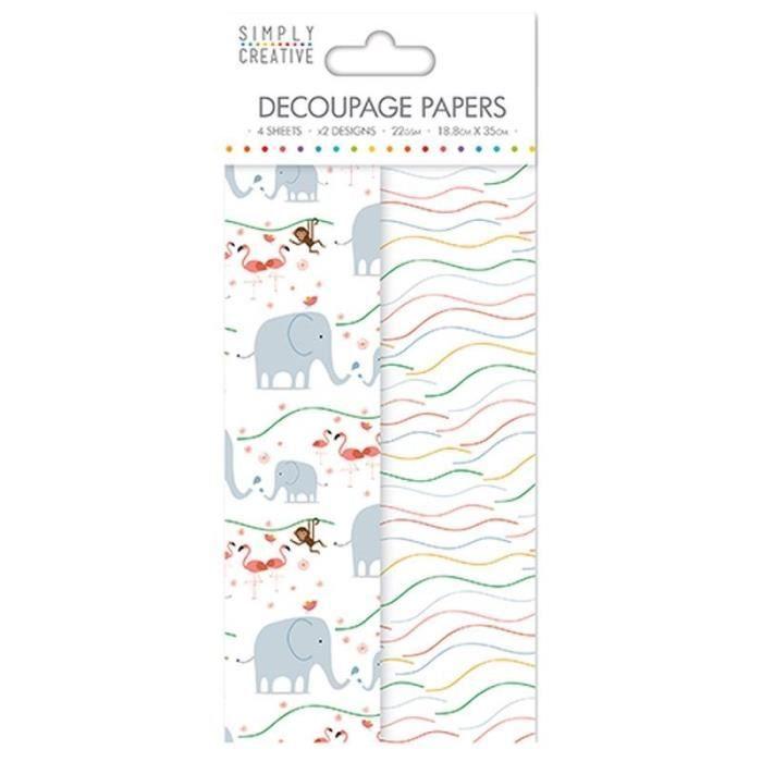 LA FOURMI Papier Découpage - Enfants - 18,8x35cm x 4fl. (2x2 modèles)