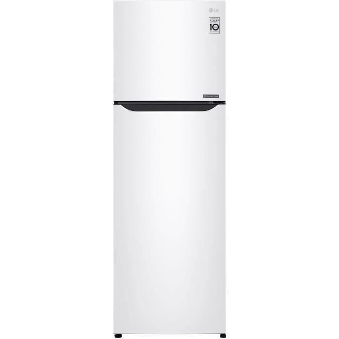 LG GT5525WH- Réfrigérateur congélateur haut - 254L (198+56) - Froid ventilé - A++ - L55,6m x H166,5cm - Blanc