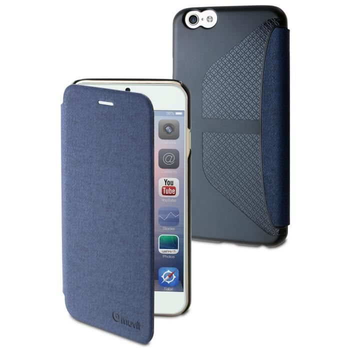 MUVIT Easy Folio Etui - Jean Bleu - Pour Apple Iphone 6, 6s
