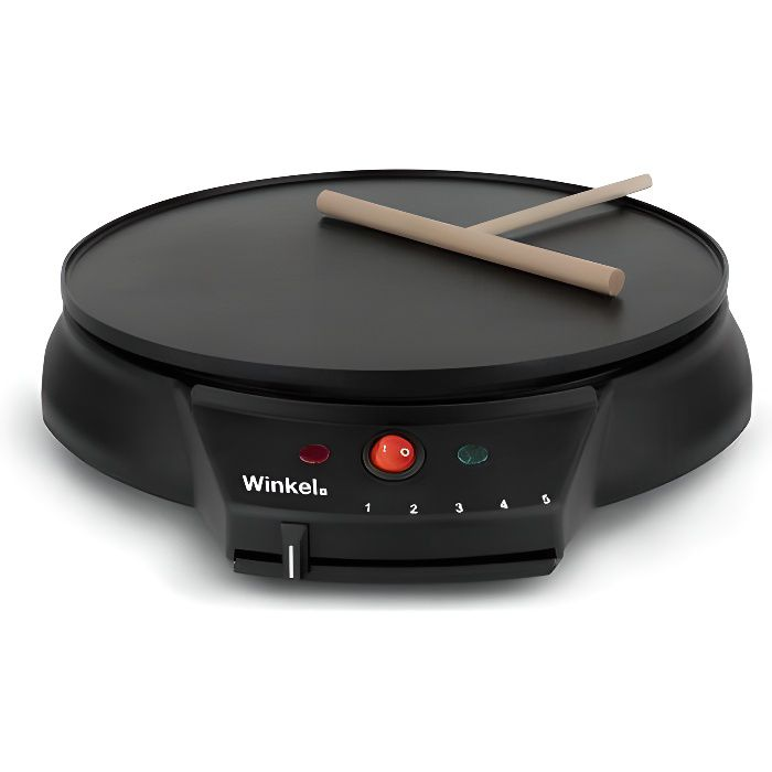 1000W – Surface de cuisson: Ø30cm – Niveaux de cuisson: 5CREPIERE ELECTRIQUE