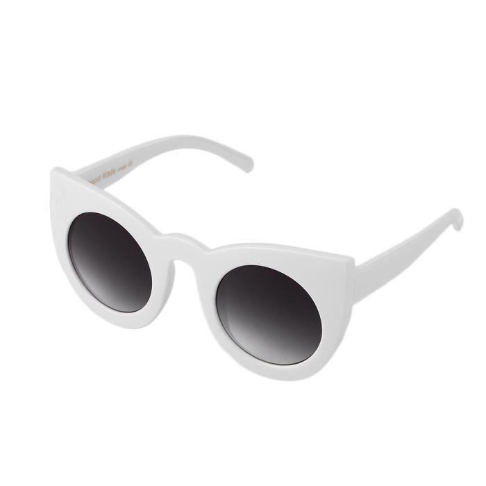 YKS fashion lunettes de soleil oeil de chat C5 Blanc - Gris Dégradé