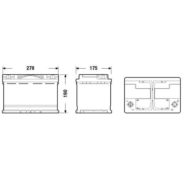 BATTERIE VÉHICULE FULMEN Batterie auto START-STOP AGM (+ droite) FK7