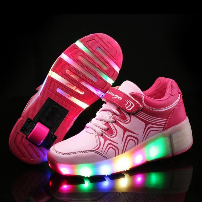 Enfant chaussures à roulettes avec roues chaussures pour enfants chaussures pour enfants filles LED Light Sneakers