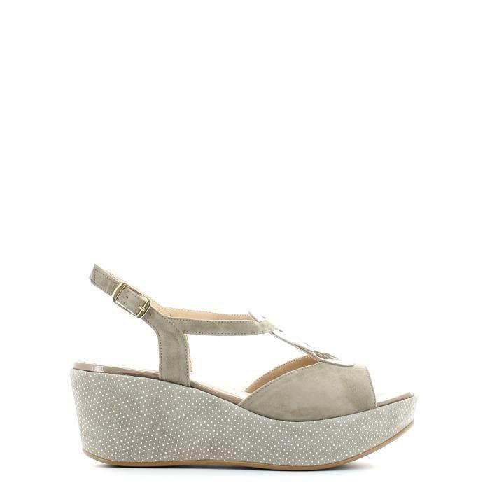 Grace shoes Sandales compensées Femmes Gris