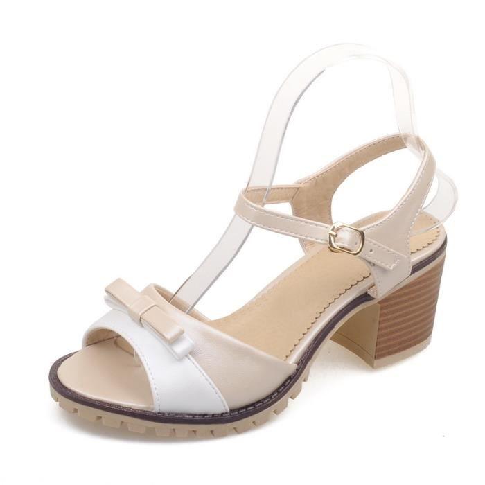 Nouveau Chaussure Sling Sandales à talons à Femme Femme Sling Sandales Nouveau talons Nouveau Chaussure wq0xx1R4