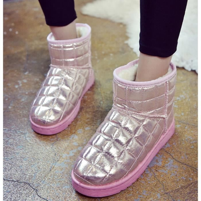 Paillettes boots de neige