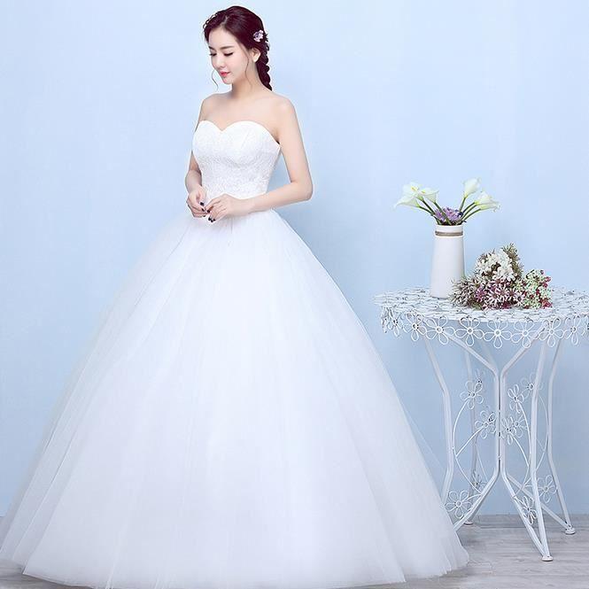 xxxl robe de mari e blanche de princesse mari e la mode. Black Bedroom Furniture Sets. Home Design Ideas