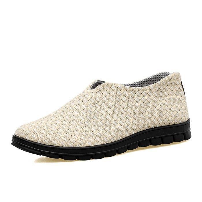 Le tissage de la mode coréenne hommes Slip-on Chaussures plates sDZ51ztO