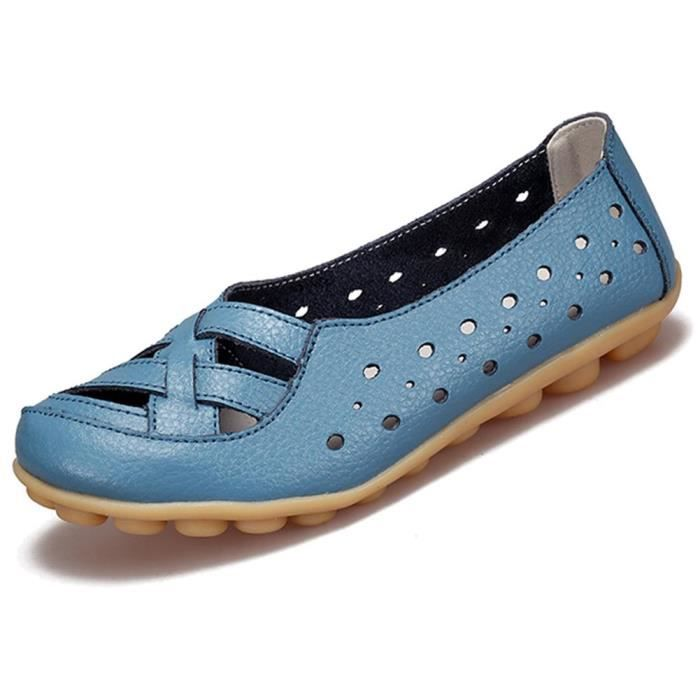 Cuir Mocassins Flats Sandales Mules IMW6P Taille-41 1-2