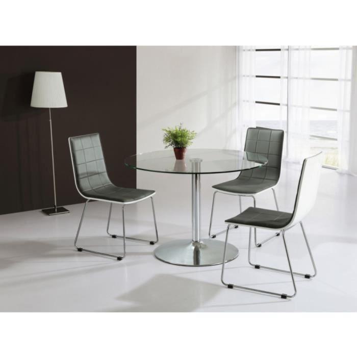 table ronde en verre achat vente table ronde en verre pas cher cdiscount. Black Bedroom Furniture Sets. Home Design Ideas