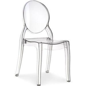 Lot de 4 chaises transparentes - Achat / Vente pas cher