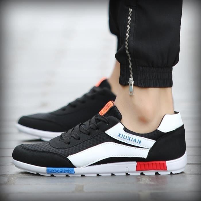 Mesh respirant Hommes Sport Flats Souliers simple d'homme Loisirs Chaussures Homme Chaussures actifs Mocassins Hommes,gris et