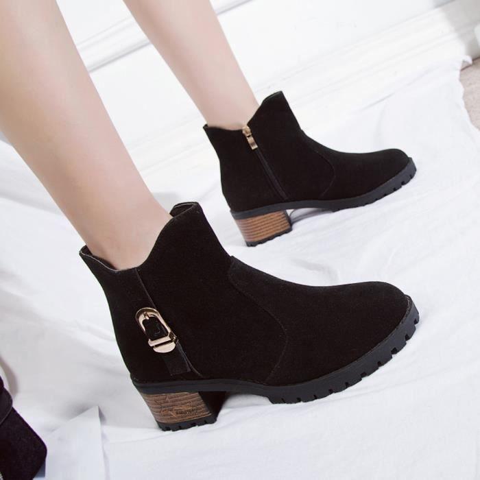 En Casual Martain Talons Bottines Lansman Haut Daim Chaussures bottes À Bottes Em22602 Boot Zipper Femme xBqn00vtwI