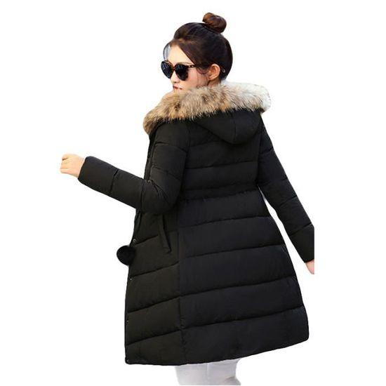 Cordon La De nbsp;épaississant Marque Noir Capuche Femme À Vêtement Doudoune Serrage Avec Taille Femmes qU8TX4xw