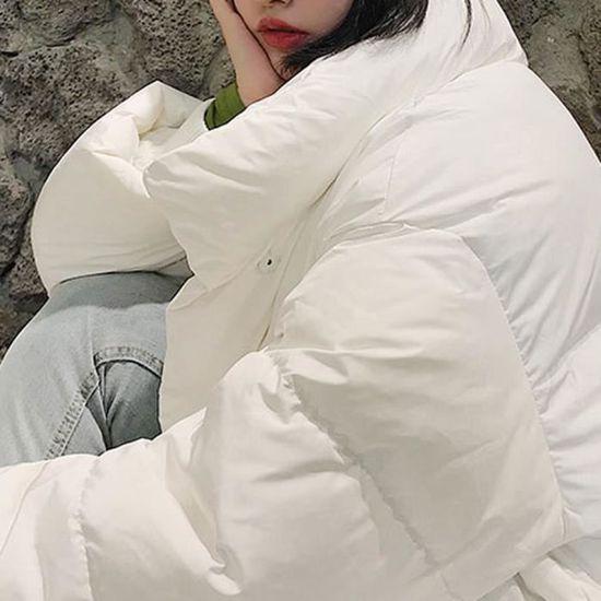 Chaud Coton Slim Long Manteau Femmes À Blanc Capuchon Thicker Outwear Veste Facile Parka qwSWIT8pv
