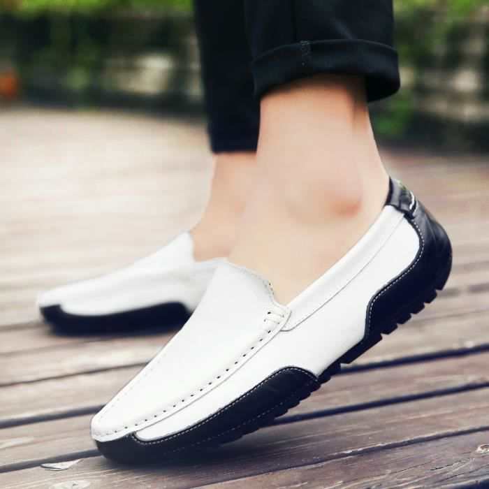 Casual Mocassins couleurs trois Pois Chaussure cuir Chaussure Homme Driving g1WUqwUS