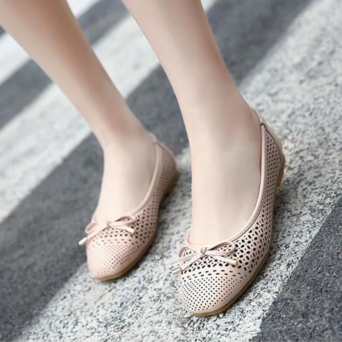 Ballerines Femme Cuir Chaussures En Sandale 8wwxR6nSq