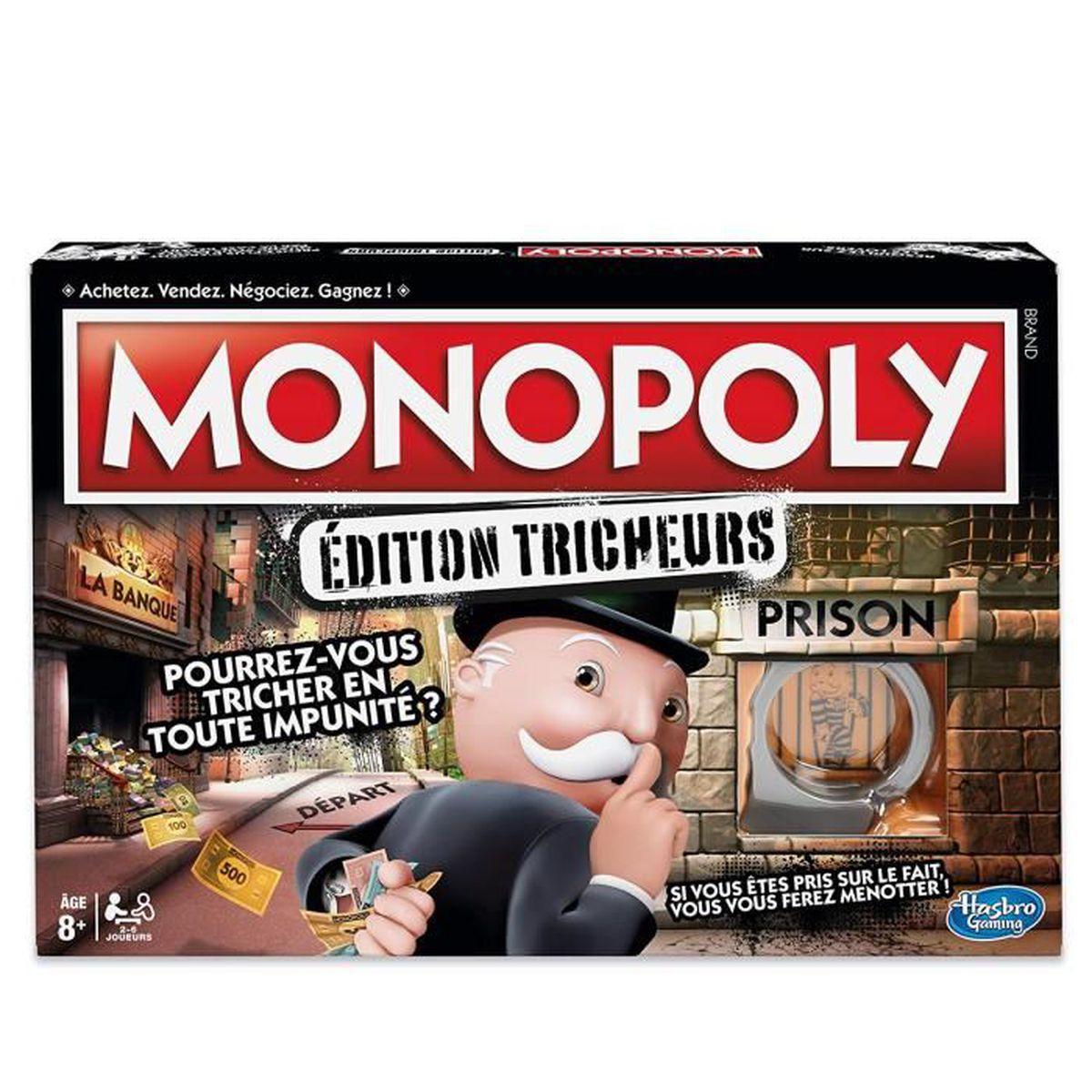 MALLETTE MULTI-JEUX   jeu de société Monopoly Tricheurs