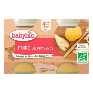 DESSERT FRUITS BÉBÉ BABYBIO PETITS POTS POIRE