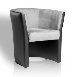 fauteuil cabriolet noir achat vente fauteuil cabriolet noir pas cher black friday le 24 11. Black Bedroom Furniture Sets. Home Design Ideas