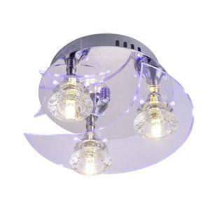 PLAFONNIER Lampe de Plafonnier en Cristal Etoiles Lune Lustre