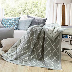 couverture plaid plaid couverture jet de canap lit en tricot acry - Plaid Canape