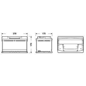 BATTERIE VÉHICULE FULMEN Batterie auto FORMULA FB712 (+ droite) 12V